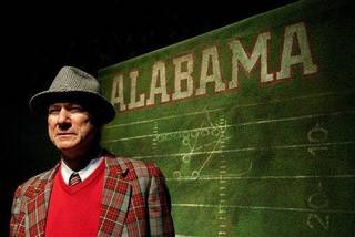 "This undated photo, supplied by the American Civil Liberties Union in January 2009, shows Rodney Clark playing legendary Alabama football coach Paul ""Bear"" Bryant in the Alabama Shakespeare Festival's production of ""Bear Country."" The festival announced Monday, June 8, 2009, that the play will be performed in August at the Virginia Samford Theatre in Birmingham,Ala."