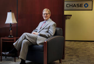 Chase Bank Oklahoma president David G. Page poses for a photo on July 1 in Oklahoma City. Photo by Chris Landsberger, The Oklahoman CHRIS LANDSBERGER