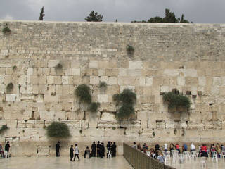 Men and women pray in separate sectors at Jerusalem's Western Wall. Photo courtesy of Barbara Selwitz.