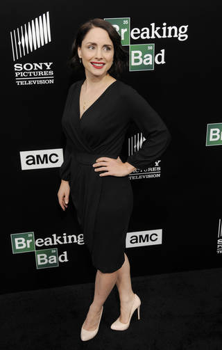 "Laura Fraser, a cast member in ""Breaking Bad,"" poses at a premiere screening to celebrate the final episodes of the television series at Sony Pictures Studios in Los Angeles. AP PHOTO Chris Pizzello"