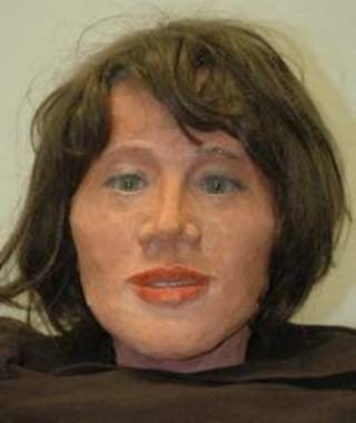 A facial reconstruction of the woman found at Lake Thunderbird in 2008 - Oklahoma State Bureau of Investigation