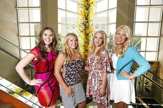 Chandler Helms, Emily Ellis, Georgia Dunning, Katherine Boecking in Oklahoma City , Thursday May 30, 2013.Photo By Steve Gooch, The Oklahoman