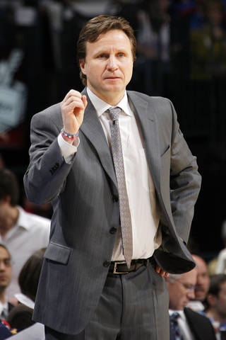 Thunder coach Scott Brooks says players who are committed to winning adjust quickly to trades. Photo by Nate Billings, The Oklahoman