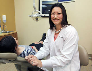 """Dr. Jennifer Chambers is a dentist at """"My Dentist"""" at Britton Rd. and Pennsylvania in Oklahoma City, OK, Monday, April 1, 2013, By Paul Hellstern, The Oklahoman"""