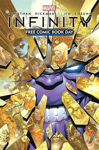 """Infinity"" is coming for Free Comic Book Day. Marvel Comics."