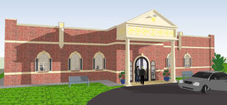 This architectural drawing shows the new Sikh Gurdwara of Oklahoma building being constructed at 4525 NW 16. Provided