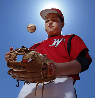 Washington freshman second baseman Chaz Orr on Tuesday, April 15, 2014 in Washington, Okla. Orr had open-heart surgery in the winter and has since earned a starting spot for the Warriors. Photo by Steve Sisney, The Oklahoman