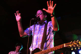 The Hold Steady frontman Craig Finn performing on Friday evening at the Diamond Ballroom.