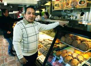 Ramiro Vasquez is the owner of La Oaxaquena Bakery in SW Oklahoma City on Friday. Photo by Paul Hellstern, The Oklahoman PAUL HELLSTERN