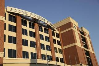 Boone Pickens Stadium on Oklahoma State University campus in Stillwater Thursday, Aug. 13, 2009. Photo by Doug Hoke