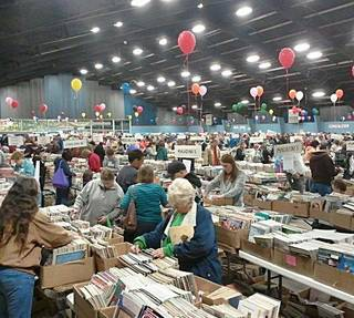 A scene from last year's book sale. PHOTO PROVIDED BY FRIIENDS OF THE LIBRARY