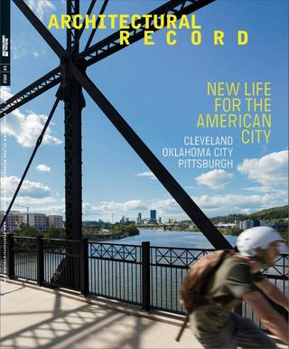 Oklahoma City's transformation is featured prominently in the October issue of Architectural Record. Provided