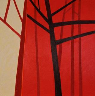 Red Tree Trilogy 3, acrylic on canvas, by B.J. White.