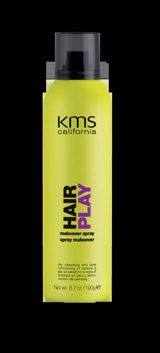 Instead of washing and blow drying your hair everyday, consider using a product such as KMS Makeover Spray that can refresh your style in an instant. Photo provided.