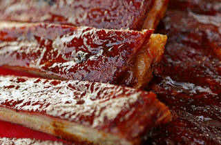 Ribs prepared by Russ Garrett in Oklahoma City, Thursday, June, 13, 2013. Photo by Bryan Terry, The Oklahoman