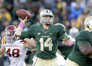 Baylor quarterback Bryce Petty threw for 343 yards and two touchdowns against Iowa State on Saturday night. AP photo