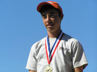 Jake Ratcliffe, 14, of Ardmore won a gold medal at the Junior World Skeet Championships. Photo provided
