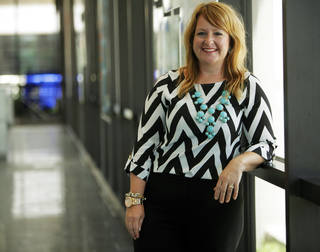 Kara McDonald, an interior designer with Miles Associates: Architecture Planning and Interiors, recently earned the American Academy of Healthcare Interior Designers Certificate. McDonald is one of 120 recipients of the certificate nationwide, and the only one in Oklahoma. She is shown at Miles Associates, 865 Research Parkway, Suite 100. KT King - The Oklahoman
