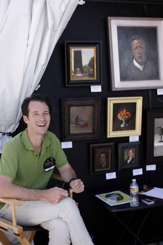 Michael DeVore at his booth during opening day of the Festival of the Arts in downtown Oklahoma City TUesday, April 24, 2012. Photo by Doug Hoke, The Oklahoman