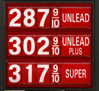 Posted gas prices Tuesday at a Britton Rd. and Pennsylvania Ave. station in north Oklahoma City. Jim Beckel - THE OKLAHOMAN