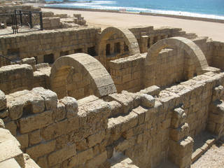Roman ruins abound in Caesarea, Israel. Photo courtesy of Barbara Selwitz.
