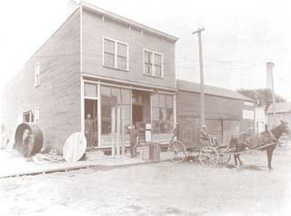 Boldt Co. started in Appleton, Wis., in 1889 with this carpenter shop owned and operated by Martin Boldt. PROVIDED BY BOLDT CO.