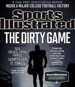 "Pictured is the Sports Illustrated magazine cover from September 2013, ""The Dirty Game."""