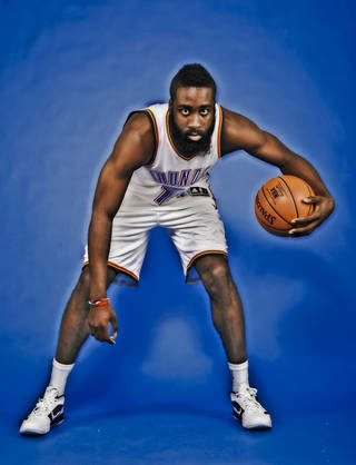 James Harden's beard has taken on a life of its own, but his game may draw the attention this season. Photo by Chris Landsberger, The Oklahoman