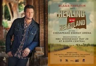 """There were a limited number of tickets re-sold for Blake Shelton's """"Healing in the the Heartland."""""""