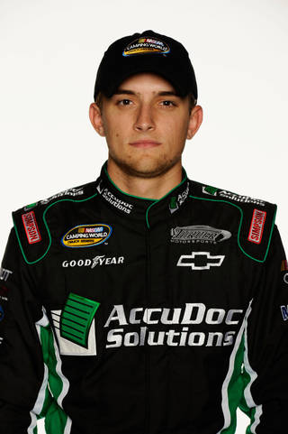 James Buescher, driver of the #31 AccuDoc Solutions Chevrolet. (Photo by John Harrelson/Getty Images for NASCAR)
