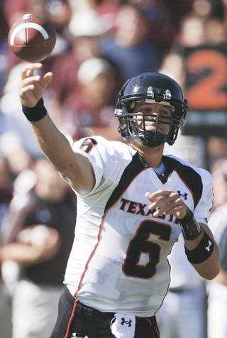 Texas Tech quarterback Graham Harrell received more support in the Southwest Region, where Tim Tebow received only 184 points.AP photo