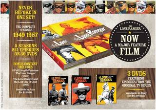 "The new ""Lone Ranger"" box set contains the entire TV series from 1949 to 1957. DREAMWORKS CLASSICS PHOTO"