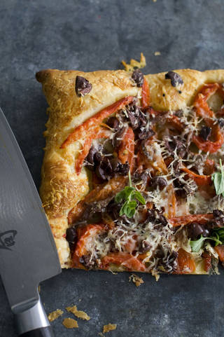 Puff Pastry Pissaladiere. AP PHOTO Matthew Mead - AP