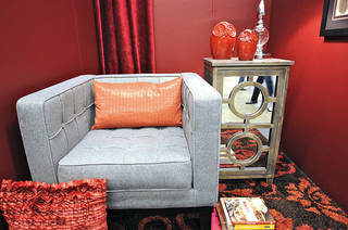 Orange punch. A strong fashion color this year, orange, tastefully handled, is also making a splash in more homes. - PROVIDED BY MARKETPLACE EVENTS