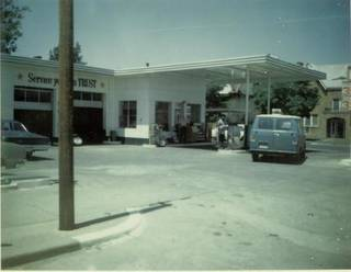 The former Elmer's Texaco at 2425 N Walker Ave. was a longtime community gathering spot until it was sold by Elmer Gentry in the late 1970s. Provided by Paula Black