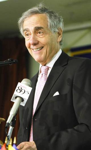 George Kaiser speaks in 2009 at the Rotary Club of Tulsa. Tulsa World ARCHIVE PHOTO