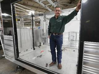 Michael Terry is co-owner of Cimarron Trailers in Chickasha. Photo by Steve Sisney, The Oklahoman
