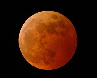 A lunar eclipse. Photo provided by NASA Science