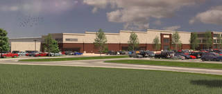 Kimray Inc. plans to build a new headquarters on land owned by American Energy Partners CEO and Chairman Aubrey McClendon at E Britton Road and N Eastern Avenue. Drawing provided - OPUBCO
