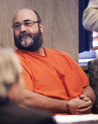 Former Del City police officer Randy Harrison in the courtroom for his sentencing at the Oklahoma County Courthouse on Wednesday. PAUL B. SOUTHERLAND - PAUL B. SOUTHERLAND