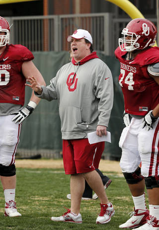 New offensive line coach in Bill Bedenbaugh beefed up the offensive line over the offseason Photo by Steve Sisney, The Oklahoman