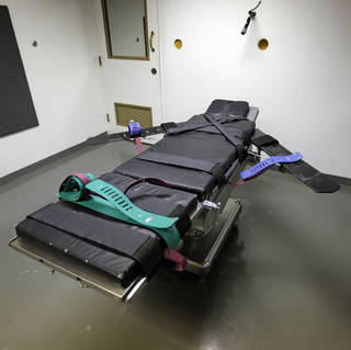 The death chamber on H Unit at the Oklahoma State Penitentiary in McAlester, is shown on Dec. 7. Photo by Nate Billings, The Oklahoman Archives