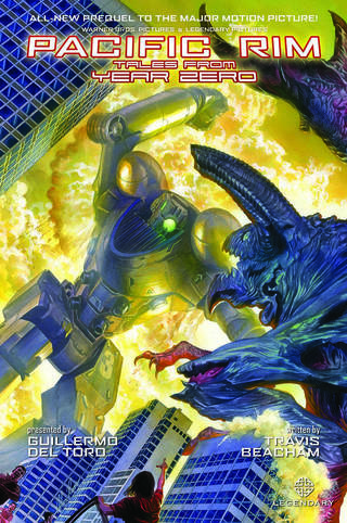"The cover to ""Pacific Rim: Tales from Year Zero,"" painted by Alex Ross. Legendary."