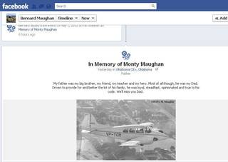 Monty Maughan's son, Bernard Maughan, remembers his father on his Facebook page.