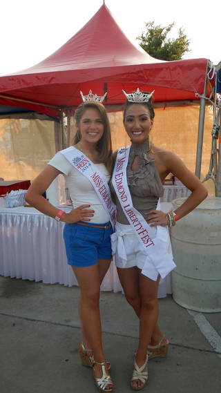 Miss LibertyFest for 2012 is Veronica Wisniewski, right, and Miss LibertyFest Teen Joei Whisenant. They were crowned during the Miss LibertyFest Pageant held Saturday. PHOTO PROVIDED. - PHOTO PROVIDED