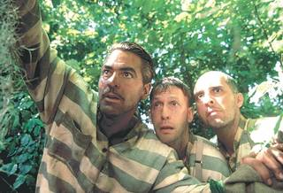 """Tim Blake Nelson, center, in a scene with George Clooney, left, and John Turturro, right, from the 2000 Coen Brothers comedy O Brother, Where Art Thou?"""" PHOTO PROVIDED PROVIDED"""