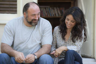 "James Gandolfini and Julia Louis-Dreyfus star in ""Enough Said."" Lacey Terrell"