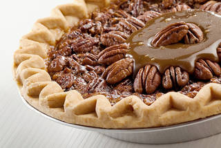 This Thanksgiving dessert is a Field's pecan pie with a caramel topping made of Oklahoma products - PROVIDED