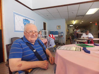 William Harper, 88, a resident of Rebold Manor in Okmulgee, looks forward to another Thanksgiving. The holiday brings with it memories of a special meal shared with comrades on the front lines in Germany in 1944. Photo provided by Rebold Manor