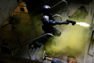 """This film image released by Lionsgate shows Karl Urban in a scene from """"Dredd 3D."""" (AP Photo/Lionsgate) ORG XMIT: NYET631"""